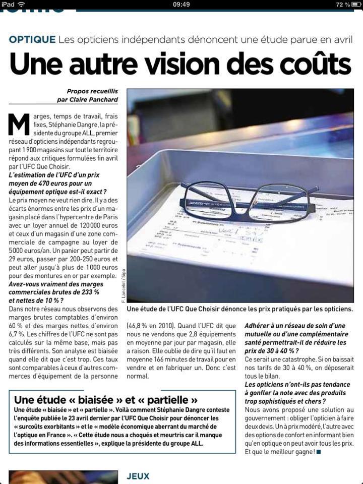 Optique du palais votre opticien sur poitiers qui for Que choisir poitiers